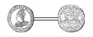Sede vacante 1744 et l'écu (Dgs 1155, Chestret 676) atelier de Liège