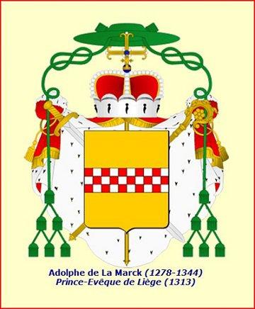 Adolphe de la Marck (1313-1344) et le gros à l'aigle (Dgs 534, Chestret 225) atelier de Liège