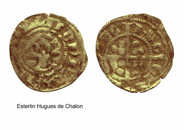 Hugues de Chalon (1296-1301) et l'esterlin, atelier de Thuin