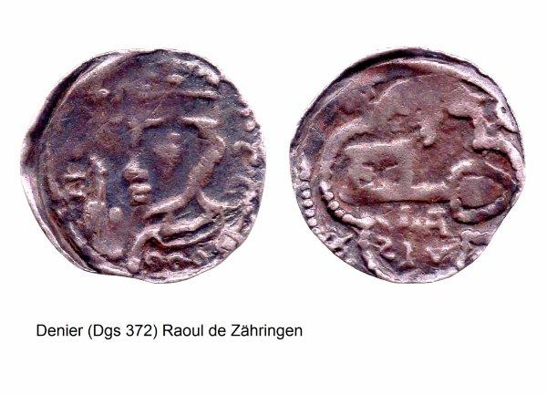 Raoul de Zähringen (1167-1191) et le denier (Dgs 372) atelier de Maastricht