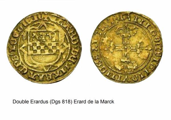Erard de la Marck (1506-1538) et le double Erardus (Dgs 818, Chestret 428) atelier de Liège