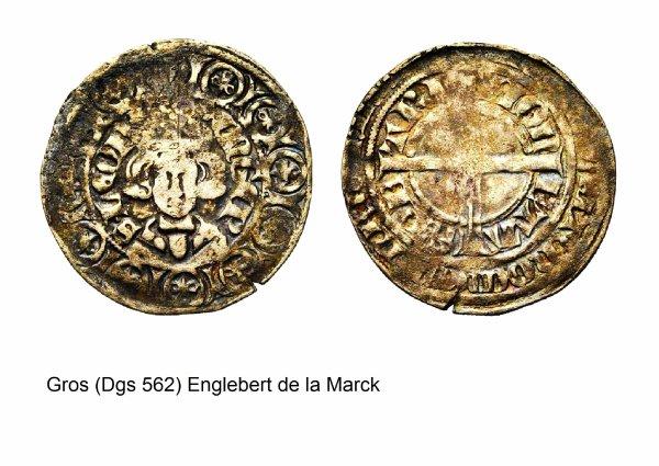 Englebert de la Marck (1344-1364) et le gros (Dgs 562, Chestret 248) atelier de Maastricht