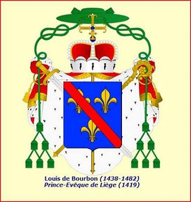 Louis de Bourbon (1456-1482) et le quart d'aidant (Dgs 712, Chestret 360) atelier de Liège ou Hasselt