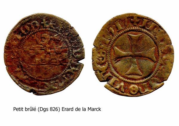 Erard de la Marck (1506-1538) et le petit brûlé (Dgs 826, Chestret 450) atelier de Hasselt