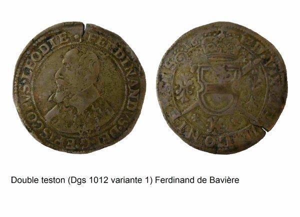 Ferdinand de Bavière (1612-1650) et le double-teston (Dgs 1012, Chestret 586) atelier de Bouillon