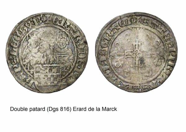Erard de la Marck (1506-1538) et le double patard (Dgs 816, Chestret 434) atelier de Maastricht