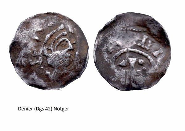 Notger (972-1008) et le denier (Dgs 42) atelier de Visé