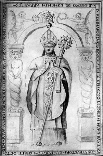 Réginard (1025-1037) et le denier (Dgs 110, Chestret 8) atelier de Maastricht