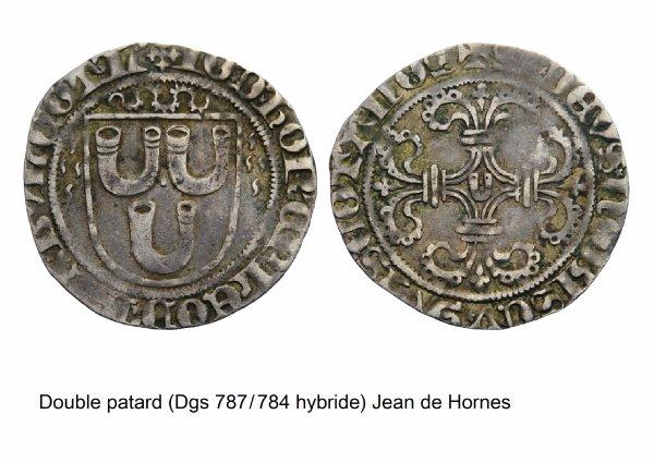 Jean de Hornes (1484-1505) et le double patard (Dgs 787 Chestret 406) atelier indéterminé
