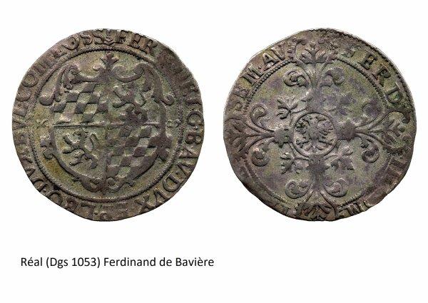 Ferdinand de Bavière (1612-1650) et le réal (Dgs 1053, Chestret 601) atelier de Liège