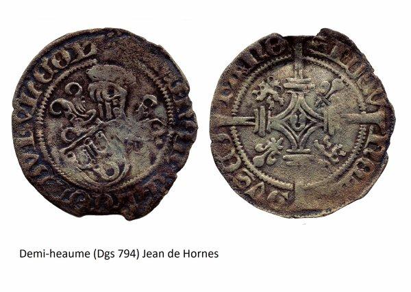 Jean de Hornes (1484-1505) et le demi-heaume (Dgs 794, Chestret 414) atelier indéterminé