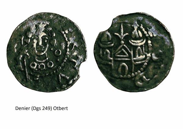Otbert (1091-1119) et le denier (Dgs 249) atelier de Liège