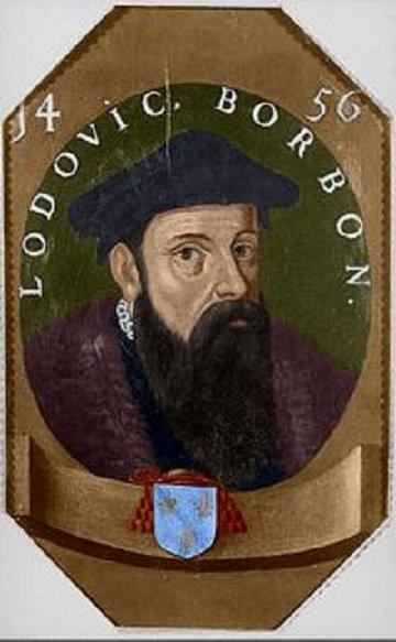Louis de Bourbon (1456-1482) et le demi-aidant (Dgs 707, Chestret 357) atelier de Liège ou Hasselt