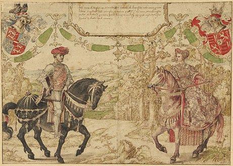 Jean de Heinsberg (1419-1455) et le brûlé (Dgs 668, Chestret 332) atelier de Hasselt