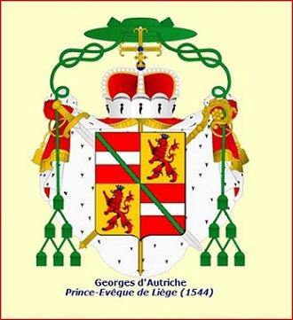 Georges d'Autriche (1544-1557) et le double-patard (Dgs 886, Chestret 477) atelier de Hasselt