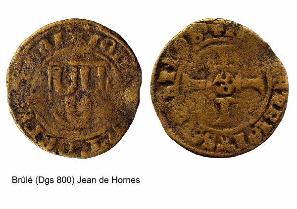 Jean de Hornes (1484-1505) et le brûlé (Dgs 800, Chestret 421) atelier de Maastricht