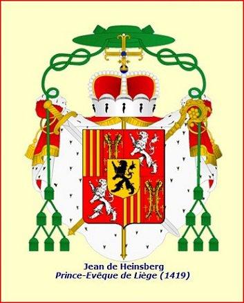 Jean de Heinsberg (1419-1455) et le grand brûlé (Dgs 655, Chestret 320) atelier de Liège