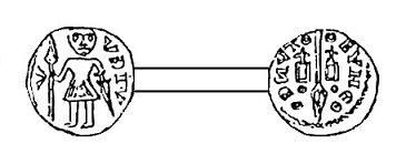 Théoduin (1048-1075) et le denier (Dgs 158) atelier de Maastricht