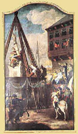 Louis de Bourbon (1456-1482) et le brûlé (Dgs 690, Chestret 363) atelier de Liège