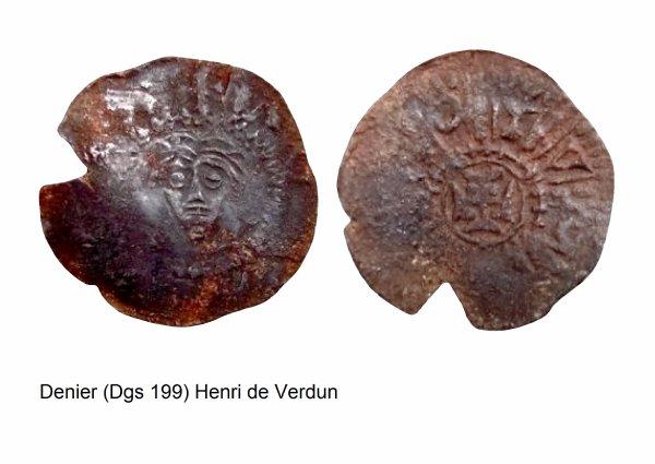 Henri de Verdun (1075-1091) et le denier (Dgs 199) atelier de Maastricht