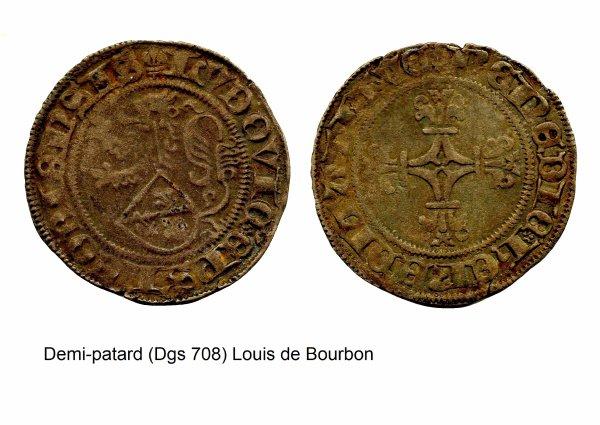 Louis de Bourbon (1456-1482) et le Demi-patard (Dgs 708, Chestret 358) atelier de Hasselt ou Liège