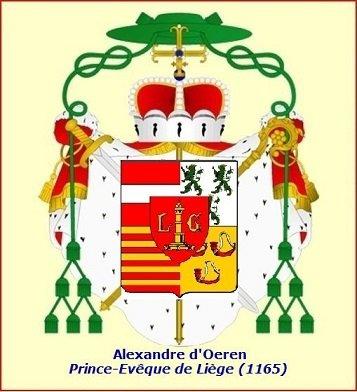 Alexandre II (1164-1167) et le denier (Dgs 345, Chestret 111) atelier de Liège