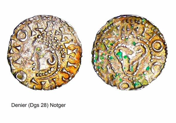 Notger (972-1008) et le denier (Dgs 28) atelier de Huy