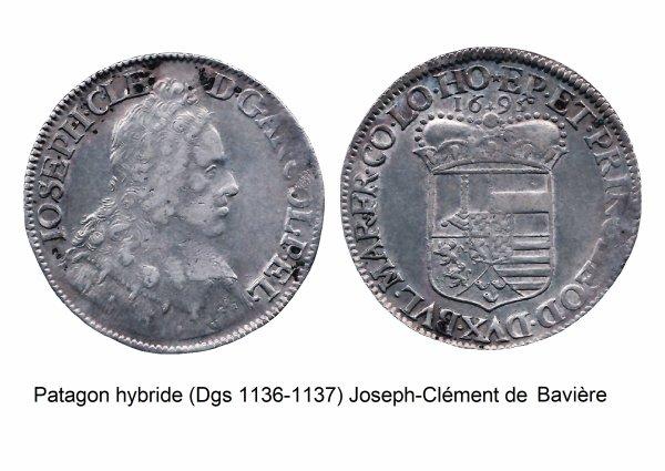 Joseph-Clément de Bavière (1694-1723) et le patagon (Dgs 1136 Chestret 661) atelier de Liège