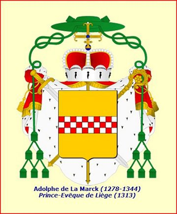 Adolphe de la Marck (1313-1344) et le volant (Dgs 546, Chestret 236) atelier de Huy