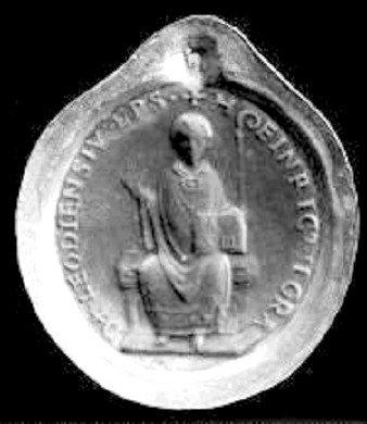 Henri II de Leez (1145-1165) et le denier (Dgs 327, Chestret supp 18) atelier de Liège