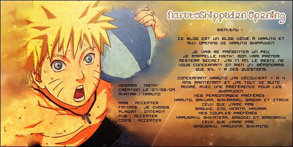 •NarutoShippuden-Opening ▬ Bienvenue