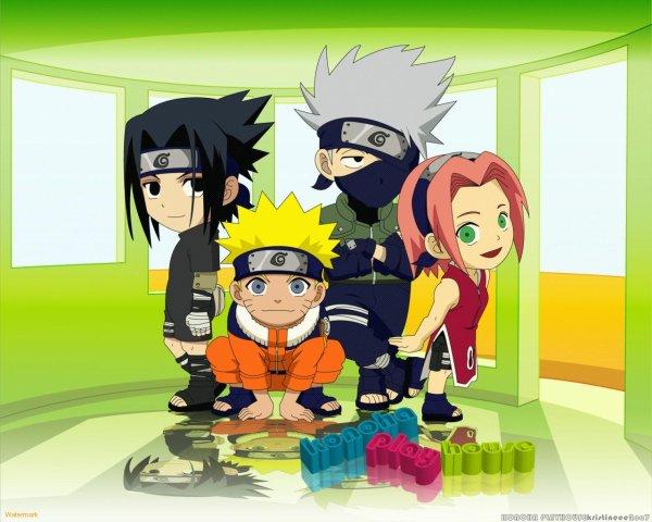 Fan Art Team 7 : Kakashi, NAruto, Sakura Et Sasuke