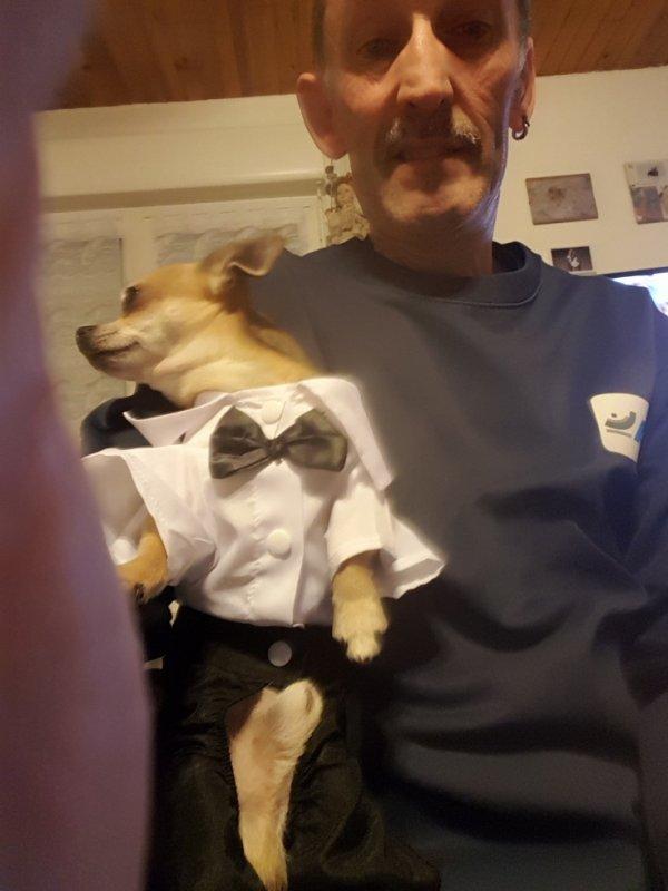 jackson avec son nouveau costume