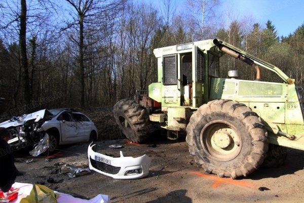 tracteur forestier accident