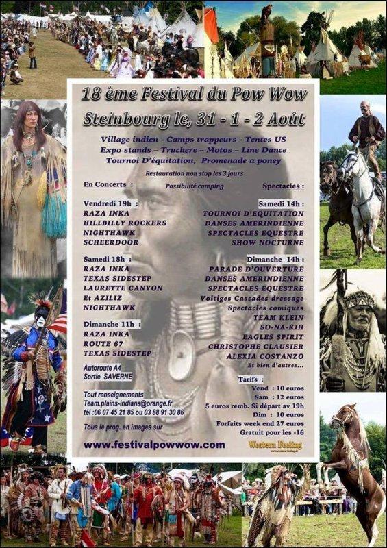 Festival Pow Wow Steinbourg : Journée du Dimanche 02.08.2015