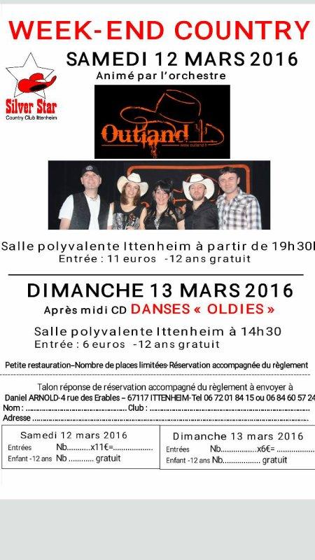 Notre Week-End Country les 12 et 13 Mars prochains
