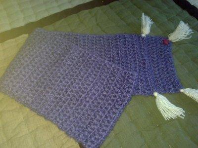 cache nez en laine fait main au crochet