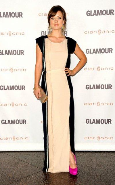 Zoe Saldana, Olivia Wilde et Eva Longoria lors de la soirée Reel Glamour Awards à Los Angeles le 24 octobre 2011.