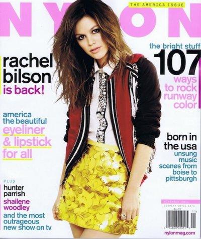Rachel Bilson sexychic en tenue d'écolière pose pour Nylon Magazine du mois de novembre 2011.