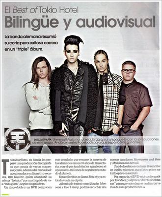Le Best of Tokio Hotel Bilingue et audiovisuel