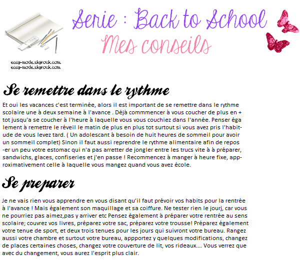 Série back to school #3