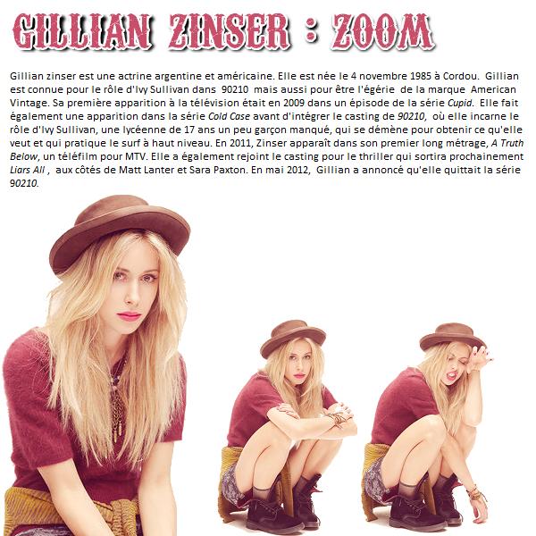 Gillian Zinser : zoom