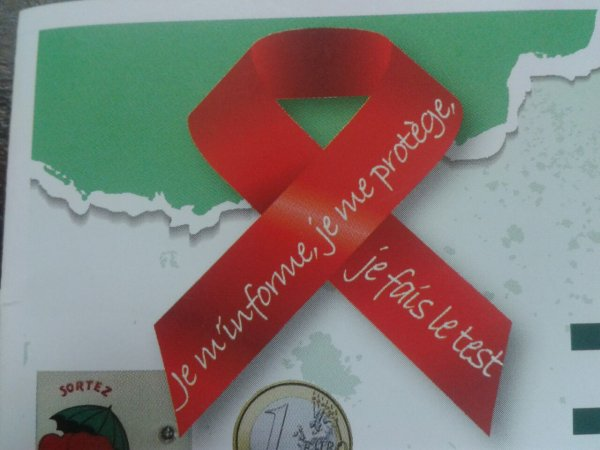 Le ruban du sida trop beau