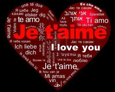Je T'AIME mon chéri dans toutes les langues