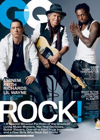 Eminem et Lil Wayne dans la couverture GQ