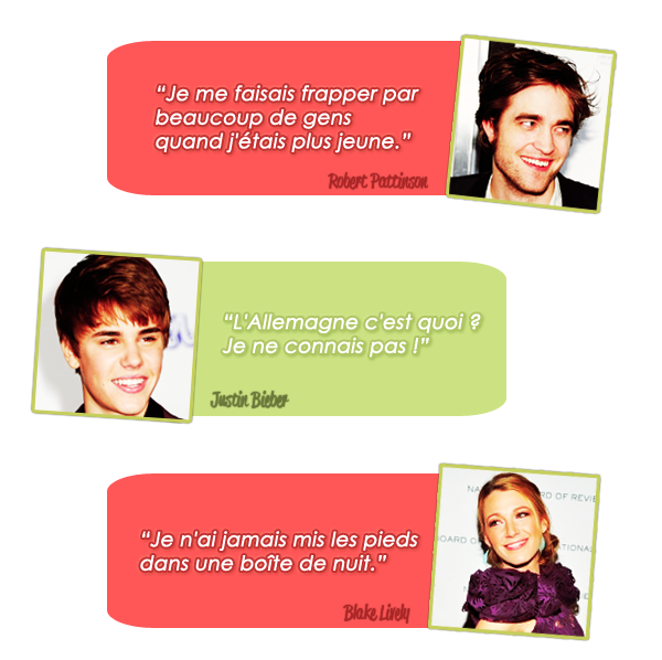 Les citations des stars !