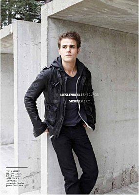 Paul à récemment fait une interview pour Remix Magazine, voici le photoshoot. + Nouvelle vidéo sur le set de Vampire Diaries.