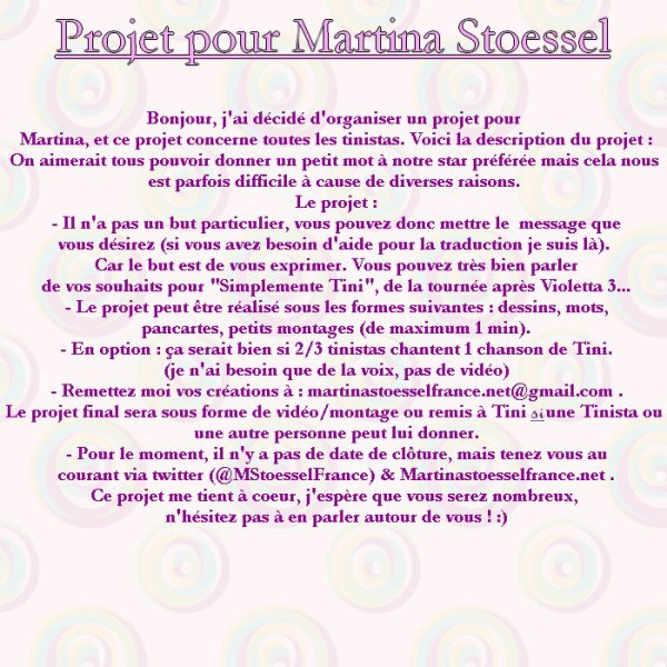 Projet Of Martina Stoessel