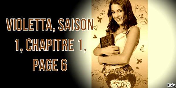 Fiction: Violetta, saison 1, chapitre 1, page 6