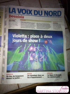 VIOLETTA LIVE DOUAI – PARIS – LA VOIX DU NORD